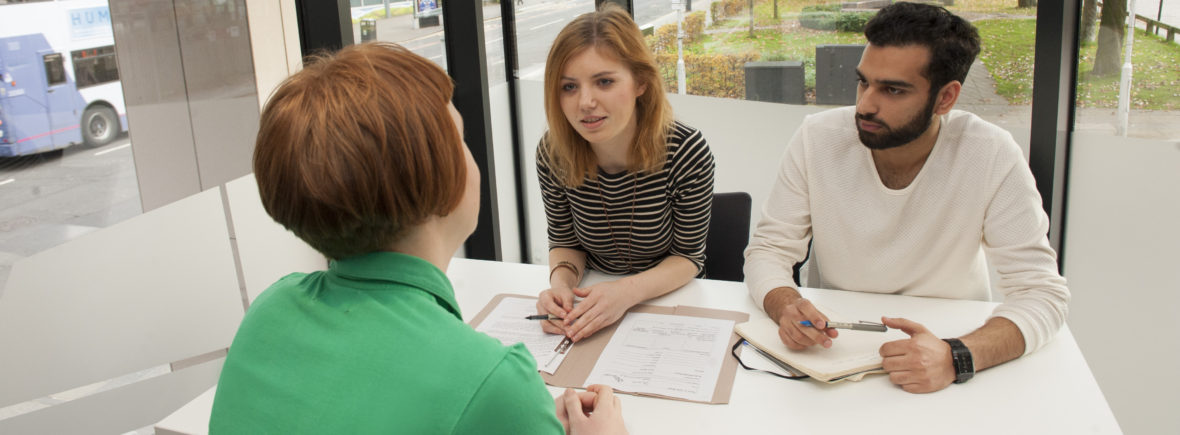 Advisors interviewing a client